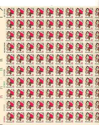 Mailbox Christmas Sheet of 100 x 13 Cent US Postage Stamps NEW Scot 1730