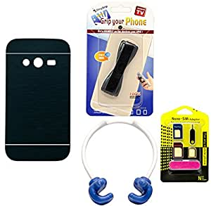 Mify Mobile Accessories Combo for Samsung Galaxy G313, Navy Blue