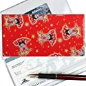 Betty Boop Lenticular Check Book Cover, Changing Image pattern, Red