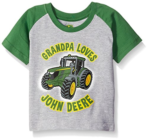 946652722 John Deere Baby Boys' Grandpa Loves Tee - Import It All
