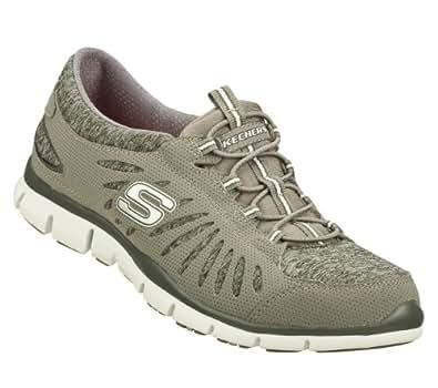 Amazon.com: Skechers Gratis TGIF Womens Bungee Sneakers Gray 11: Shoes