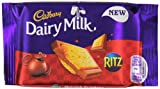 Cadbury Dairy Milk with Ritz Biscuit Chocolate Bar 35 g(Pack of 18 Bars)