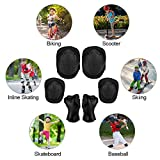 TOURNOW Kids Knee Pads and Elbow Pads with Wrist Guards, Protective Gear Set for Skateboard, Biking, Riding, Cycling, Scooter, Bicycle, Inline Skating Multi Sports Safety Protection