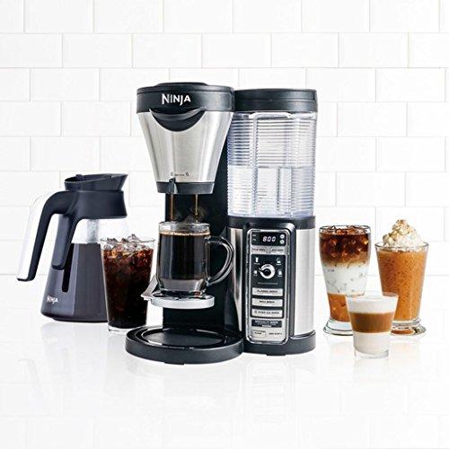 Ground Coffee, Ninja CF081 Coffee Bar Brewer w/ Milk Frother