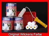 3 Dosen FLIESENLACK inkl. FARBROLLER WILCKENS weiß für 24 qm
