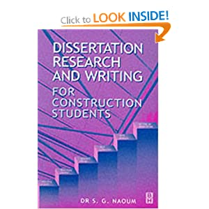 Dissertation research and writing for construction students second ...