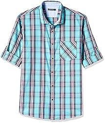 Ruggers Men's Casual Shirt (8907242819921_267797063_Large_Aqua)
