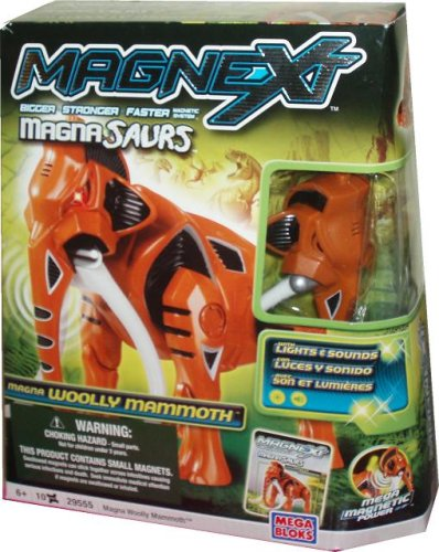 Mega Bloks Magnext Magnetic System Magna Saurs 29555 - Woolly Mammoth with Lights and Sounds