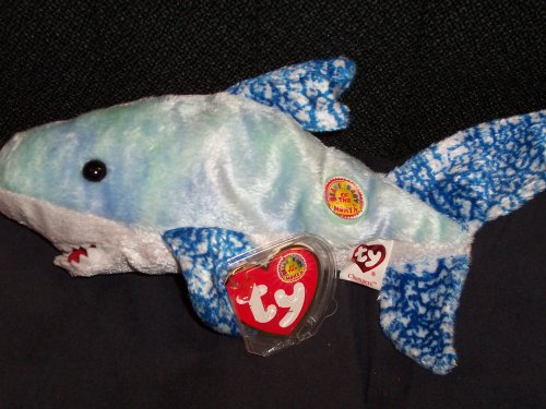 TY Beanie Baby - CHOMPERS the Shark (BBOM August 2004) [Toy] - 1