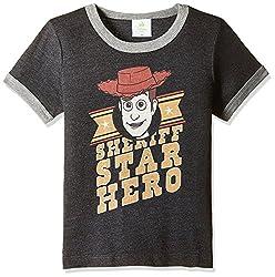 Fox Baby Boys' T-Shirt  (Black Melange_18-24 months_327600)