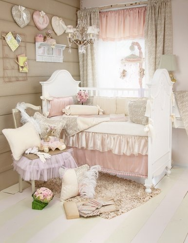 Love Letters 5 Piece Crib Set with Diaper Stacker by Glenna Jean
