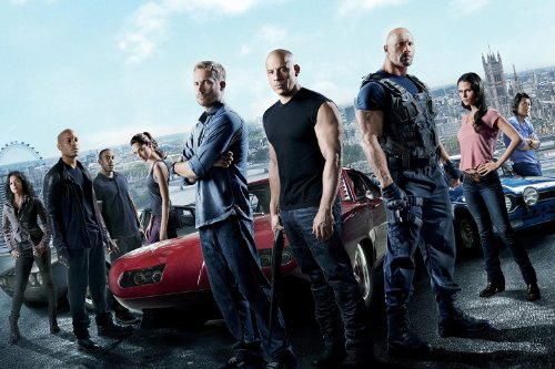 (24x36) Fast & Furious 6 (2013) Movie Poster (SPECIAL THICK POSTER) Original Size 24x36 Inch - Dwayne Johnson, Vin Diesel, Paul Walker, Michelle Rodriguez