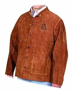 Steiner 92155 30-Inch Jacket,  Weld-Rite Premium Brown Split Cowhide, 3X-Large