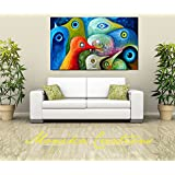Canvas Abstract Art Digital Print, Portrait, Abstract Art, Wall Hanging , Gift Ideas, Modern Art (36X24 INCH)