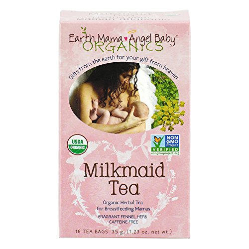 Earth Mama Angel Baby Organic Milkmaid Tea for Nursing, Lactation & Breastfeeding to Safely Support Breast Milk and Increase Mother's Milk, 16 Teabags/Box (Pack of 3) (Fat Free Milk compare prices)