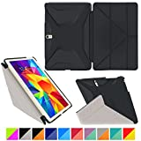 "roocase Samsung Galaxy Tab S 10.5 Case - Origami 3D [Granite Black / Cool Gray] Slim Shell 10.5-Inch 10.5"" Smart Cover with Landscape, Portrait, Typing Stand"