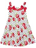 Rare Editions Girls Red Rose Print Sundress (2t-6x)