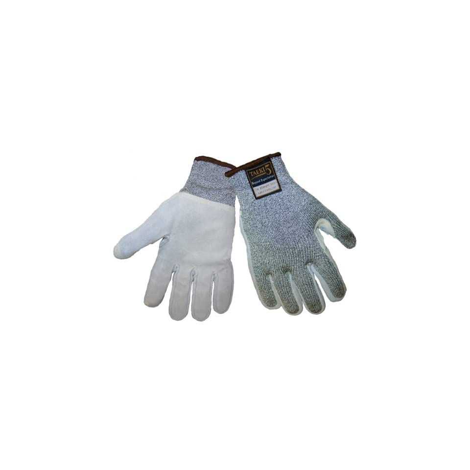 Global Glove TAK555LF Samurai Taeki 5 Liner Glove with Leather Face, Cut Resistant, Extra Large (Case of 72)