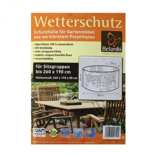 Belardo Wasserdichte Schutzhülle Gartenmöbel Abdeckung 260cm oval Sitzgarnitur Gartenmöbel B-Ware bestellen