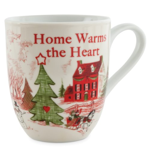 Fitz And Floyd Home Warms The Heart Holiday Mug, Home Warms The Heart
