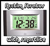Acctim Stratus LCD Radio Controlled Clock with Smartlite