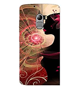 PrintDhaba Pattern Girl D-4119 Back Case Cover for LENOVO K4 NOTE A7010 (Multi-Coloured)