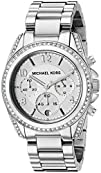 Michael Kors Womens Blair Silver-Tone Watch MK5165