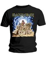 Bravado Herren T-Shirt Schwarz Iron Maiden Somewhere Back in Time