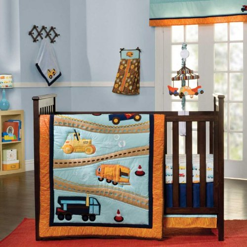 Zutano Construction 4 Piece Crib Bedding Set