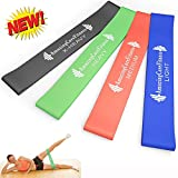Amazing Core Fitness - Extreme Resistance Loop Bands - Premium Set of 4 Resistance Exercise Bands - Perfect for P90x, Insanity, Asylum, Crossfit Training, Yoga, Pilates, Beachbody, Physical Therapy, Strengthening, Upper Body, Brazil Butt Lift or Any Other Workout Out There - Effective Exercise Bands for Ankles, Legs, Shoulders, Arms and Core Exercises - Great Workout for Men or Women - Light, Medium, Heavy and Extra Heavy Resistance Levels Perfect for Any Home Gym - 100% Natural Latex Loops - 100% Lifetime Guarantee. (10
