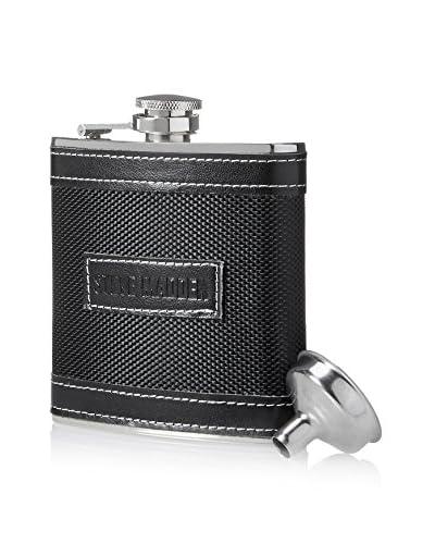 Steve Madden 6-Oz. Flask with Funnel, Black