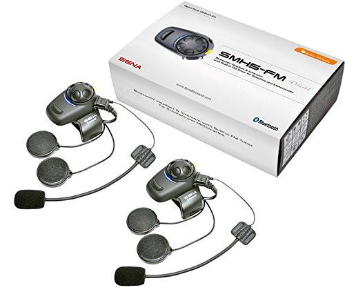 baebcef6553 Sena Smh5fm Dual Bluetooth Motorcycle Headset Intercom Open Face Helmet