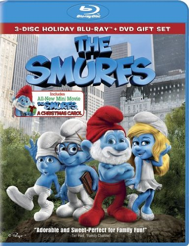 Cover art for  The Smurfs / The Smurfs: Christmas Carol (Three-Disc Combo Blu-ray / DVD + UltraViolet Digital Copy)