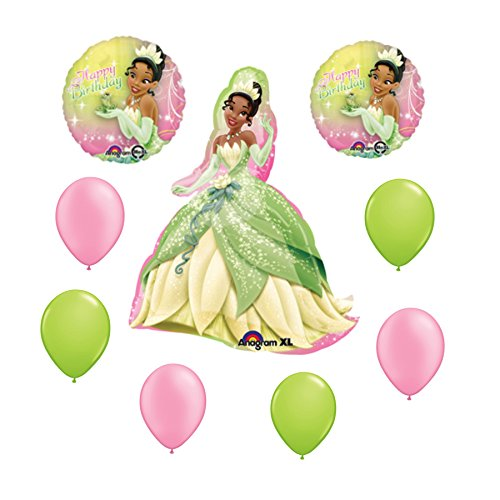 Disney Princess Tiana and the Frog Happy Birthday Balloon 9 Pieces - 1