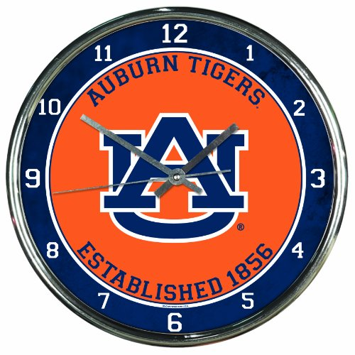 NCAA Auburn Tigers Chrome Clock