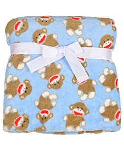 Baby Boy Baby Starters Soft Monkey Blanket