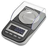 Smart Weigh High Precision Digital Milligram Scale with Case, Tweezers, Calibration Weights and Three Weighing Pans, 50 x 0.001g