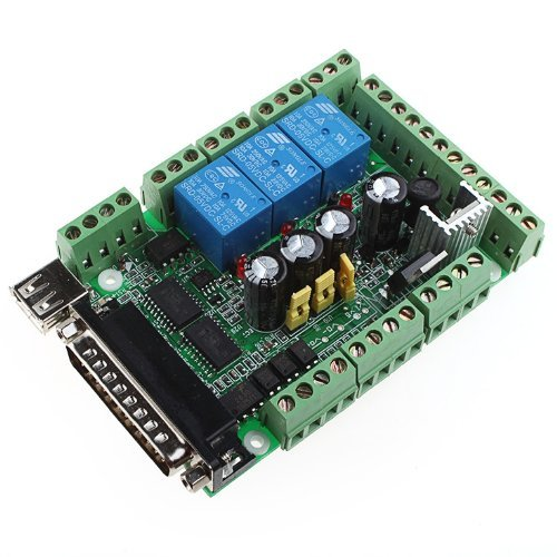 Riorand 4 Axis Usb Interface Breakout Board Adapter Cnc Mach3 For Stepper Motor Driver Top