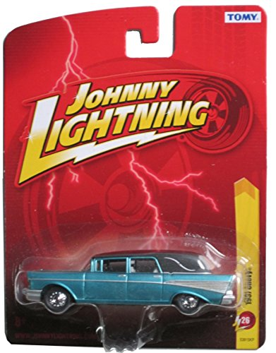 JOHNNY LIGHTNING R26 METALIC BLUE/TEAL 1957 CHEVY
