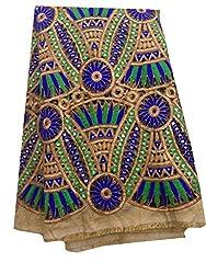 Inhika Women's Kurti Fabric (Inhika_461_Beige Blue Gold)