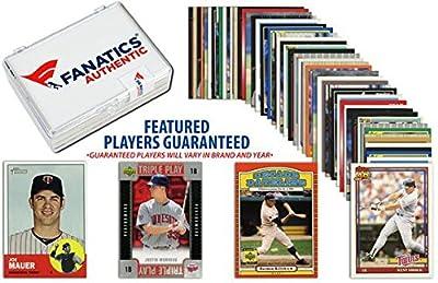 Minnesota Twins Team Trading Card Block/50 Card Lot - Fanatics Authentic Certified - Baseball Team Sets