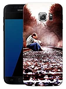 """Sad Girl On TrackPrinted Designer Mobile Back Cover For """"Samsung Galaxy S7 Edge"""" (3D, Matte, Premium Quality Snap On Case)"""