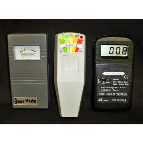 Gauss Master and K2 KII and 822A Digital EMF Meters (Digital Gauss Meter compare prices)