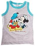 Camiseta de bebé niño Baby Mickey y Baby Donald de 12a 30meses gris Bleu/gris Talla:30mois