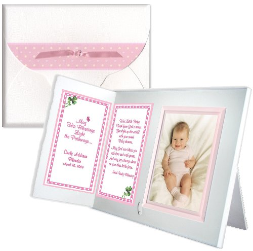 """Irish Baby Blessing"" Personalized Baptism Christening Picture Frame Gift - girl"