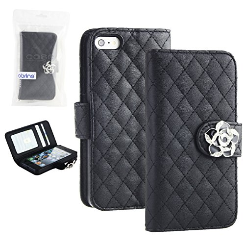 For Iphone 4 Case And Iphone 4S Case Beauty Diamond Check Design By Obring(Tm) (Black)