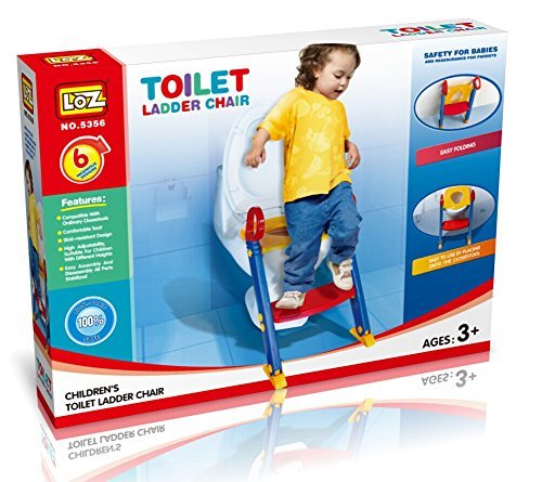 LOZ Baby Ladder Toilet Ladder Chair Toilet Trainer Potty Toilet Seat Step Up Toddler Toilet Training Step Stool for Girls and Boys LOZ5356