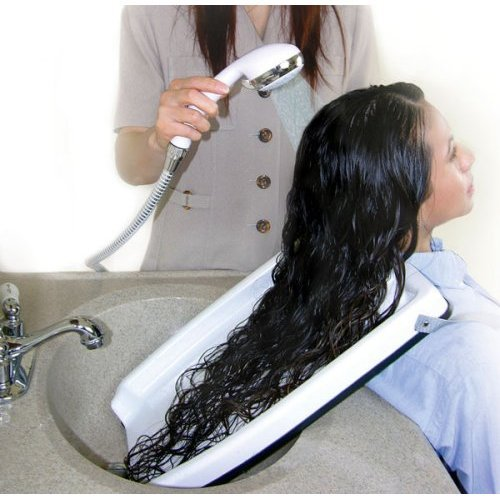 HAIR WASHING TRAY (FOR HOME OR SALON - USE WITH CHAIR OR WHEEL CHAIR!) (Hair Washing Portable compare prices)