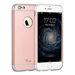 iPhone 6/6s Cases,I3C Ultra Thin Hybrid [3 in 1 Shield Series] Shockproof Slim Impact Premium Rose Gold Case Cover for Apple iPhone 6 Case,iPhone 6S Cases
