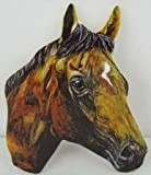 Thoroughbred Horses Head Giant Shaped Fridge Magnet Ideal Novelty Hand Cut Laminated Magnetic Gift Ideas
